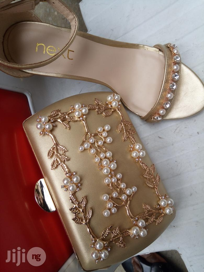 Italian H M Sandals and Clutch