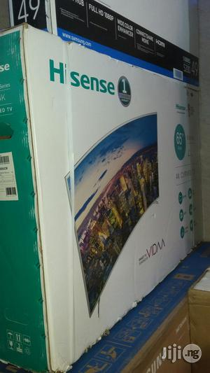 Original Hisense 65inchs Curve Smart Led 4k Tv With 2years Warranty | TV & DVD Equipment for sale in Lagos State, Ojo