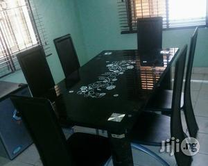 Imported Padded Glass Dining Table