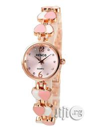 Renos Classic 828 Pink Love Design Waterproof Watch | Watches for sale in Lagos State, Agege