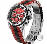 Festina Chronograph Red Rubber Strap Watch | Watches for sale in Lagos State, Lagos Island