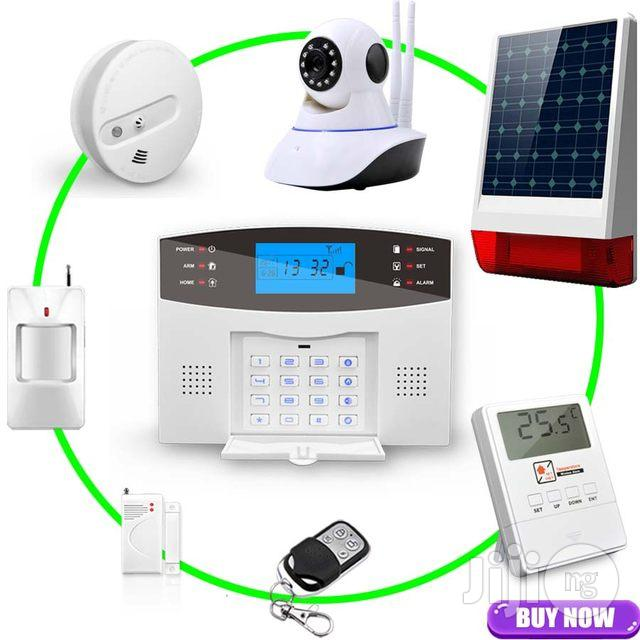 Voice Wireless GSM Alarm System Home Security Alarm Systems LCD | Safety Equipment for sale in Ikeja, Lagos State, Nigeria