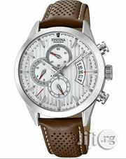 Festina Chronograph Silver Leather Strap Watch | Watches for sale in Lagos State, Lagos Island