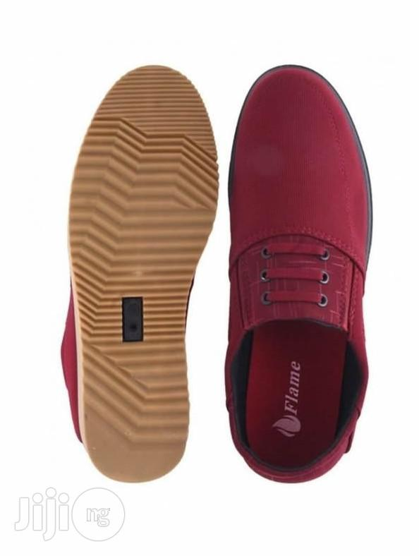 Flames Designers Stylish Loafers - Red