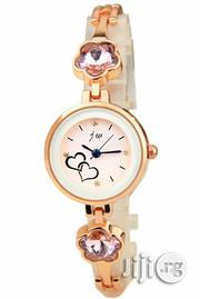 JW Classic Watch With Pink Studs - Rosegold Strap | Watches for sale in Lagos State, Agege