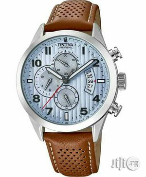 Festina Chronograph Silver Leather Strap Watch   Watches for sale in Lagos State, Lagos Island (Eko)
