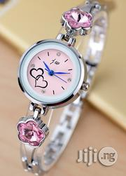 JW Silver Watch With Pink Studs   Watches for sale in Lagos State, Agege