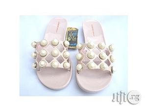 Lumeidi Simple Studded Jelly Slippers -pink | Shoes for sale in Lagos State, Agege