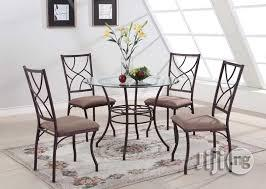 Small Dining Table Set For 4, Mini Round Glass Chrome Dining Table And 4 Chairs In Apapa Furniture Mcdurch Contracting Limited Jiji Ng For Sale In Apapa Buy Furniture From Mcdurch Contracting Limited On Jiji Ng