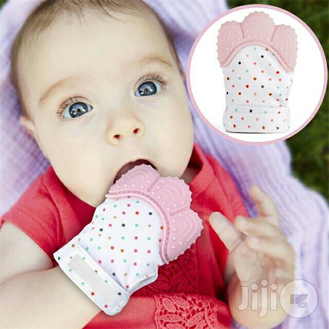 Baby Silicone Teether Pacifier Glove Available in Various Colours