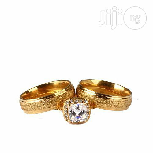 18karat Gold Plated, Wedding Ring Set