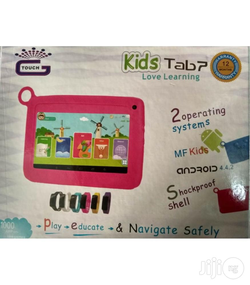 Android Educational Tab With Digital Electronic Watch