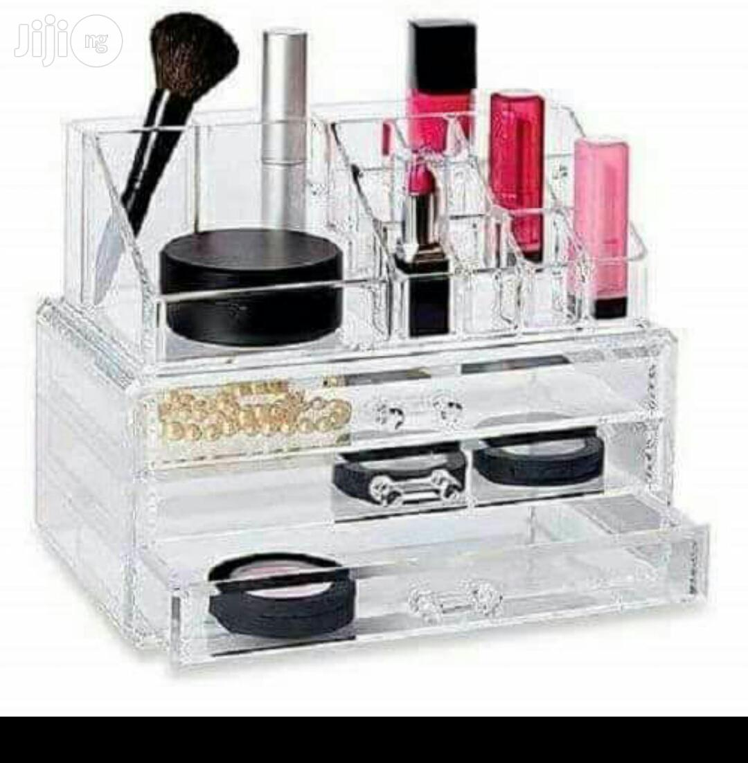 Cosmetic Ascrylics Storage Box | Makeup for sale in Surulere, Lagos State, Nigeria