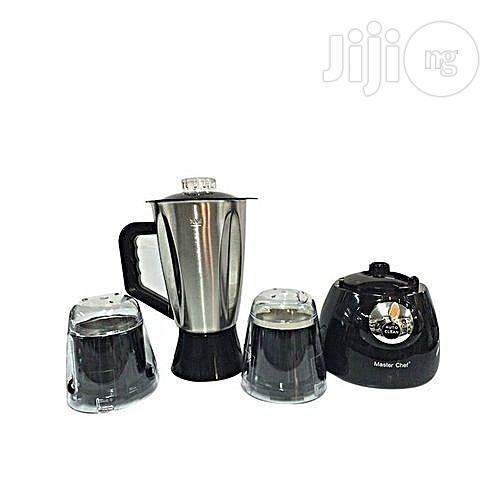 MASTERCHEF Master Chef Stainless Blender Plus Plastic Mills - Black