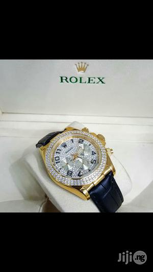 Rolex Oyster Perpetual Chronogragh Genuine Leather Strap Watch   Watches for sale in Lagos State, Surulere