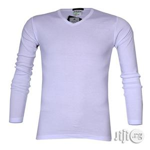 Police 1008 Freesize Plain White Medium Long Sleeve T-shirt   Clothing for sale in Lagos State, Surulere