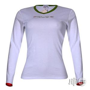 Police G.273 Bodygirl White Medium Printed Long Sleeve T-shirt   Clothing for sale in Lagos State, Surulere