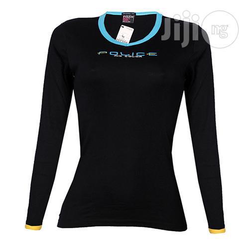 Police G.273 Bodygirl Black Medium Printed Long Sleeve T-shirt