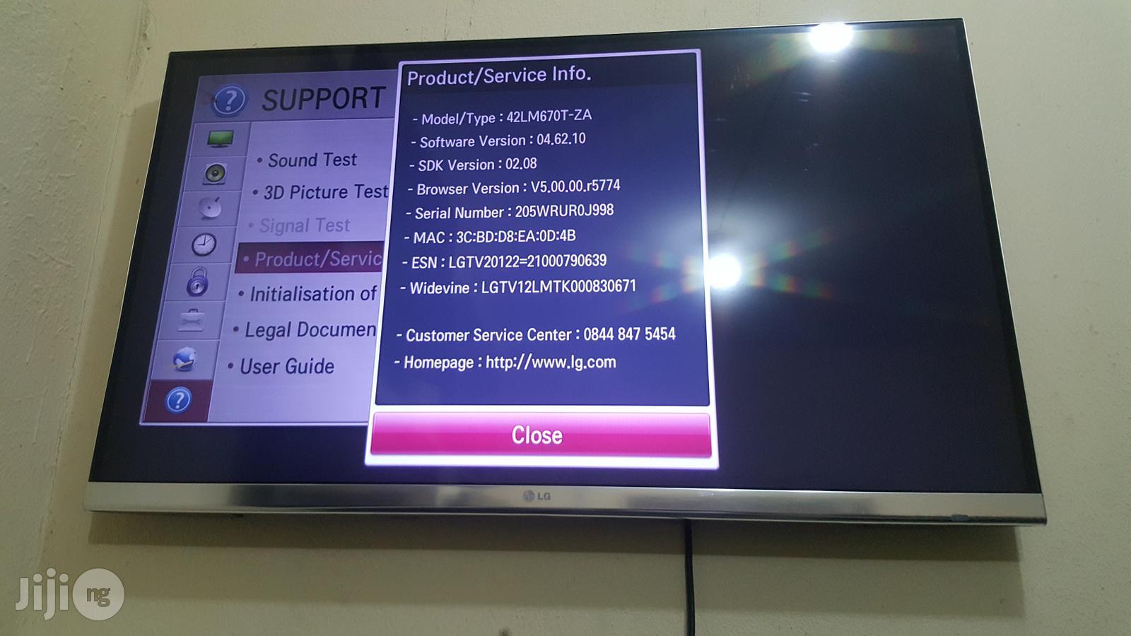 LG Smart Full HD Borderless 3D LED TV 42 Inchs
