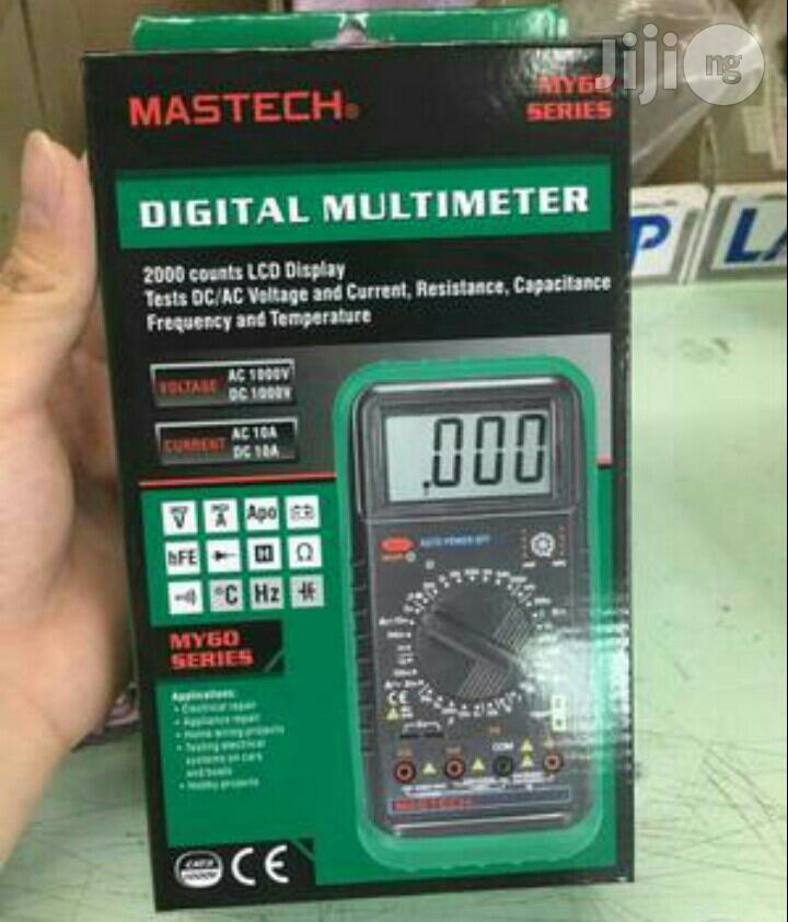 Mastech My68 Auto Range Multimeter | Measuring & Layout Tools for sale in Ojo, Lagos State, Nigeria