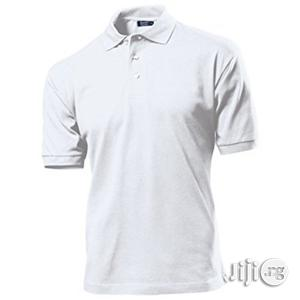 Plain White Polo T-Shirt M/L--XL   Clothing for sale in Lagos State, Surulere