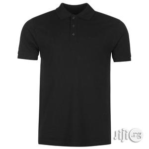 Plain Black Polo T-shirt M/L--XL   Clothing for sale in Lagos State, Surulere