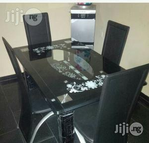 Imported 4 Seater Glass Dining Table