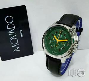 Movado Chronograph Silver Leather Strap Watch   Watches for sale in Lagos State, Lagos Island (Eko)
