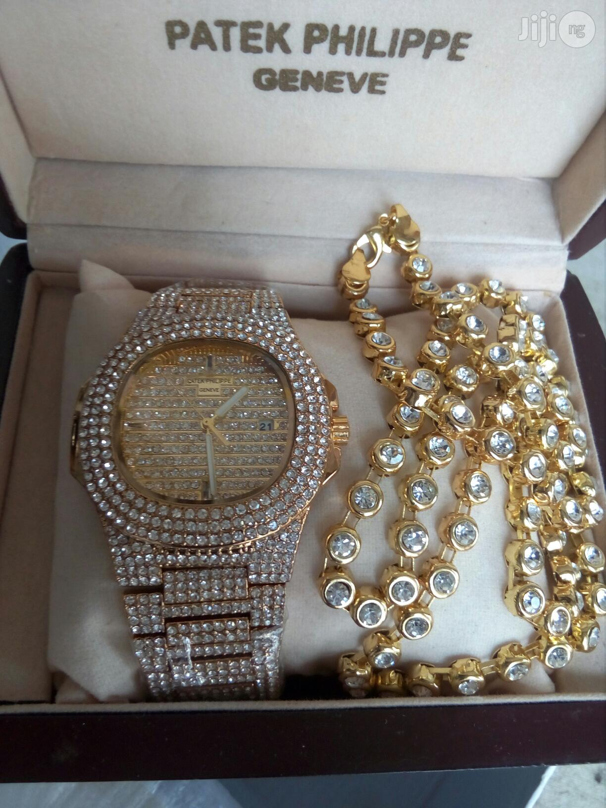 PATEK PHILIPPE Ice With Diamond Necklace Chain | Jewelry for sale in Surulere, Lagos State, Nigeria