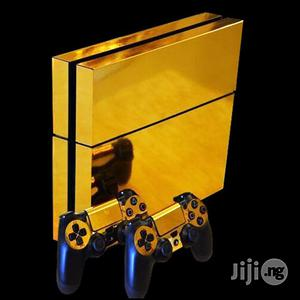 Gold Glossy Decal Skin Sticker For Playstation 4+ Controllers | Accessories & Supplies for Electronics for sale in Lagos State, Ikeja
