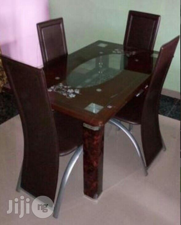Imported 4 Seater Glass Dining Table Brand New