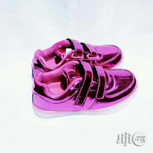 LED Pink Canvas for Girls | Children's Shoes for sale in Lagos State, Lagos Island (Eko)