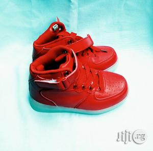 Red LED Canvas for Kids | Children's Shoes for sale in Lagos State, Lagos Island (Eko)