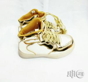 Led Gold High Top Sneakers | Children's Shoes for sale in Lagos State, Lagos Island (Eko)