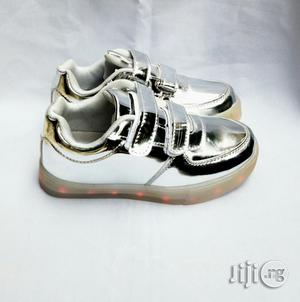 Silver LED Canvas | Children's Shoes for sale in Lagos State, Lagos Island (Eko)