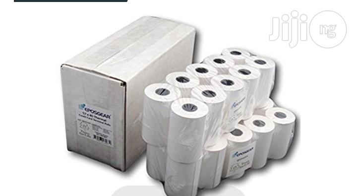 POS 58mm Thermal Receipt Printer Paper- Carton of 100 Rolls | Stationery for sale in Ikeja, Lagos State, Nigeria