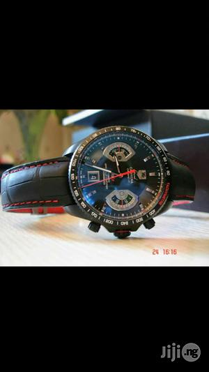 Tag Heuer Genuine Leather Strap Chronogragh Watch | Watches for sale in Lagos State, Surulere