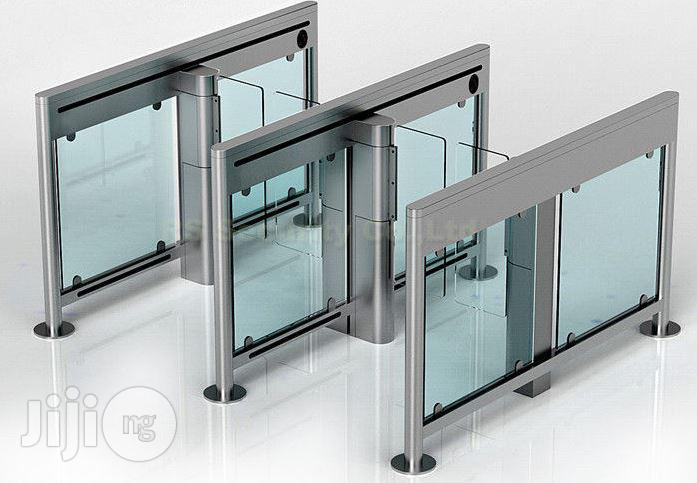 Slim Swing Gates Bi Directional Automatic Turnstiles Optical Barrier