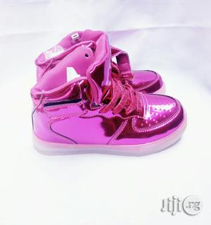 LED Fuschia Pink High Top Canvas | Children's Shoes for sale in Lagos State, Lagos Island (Eko)