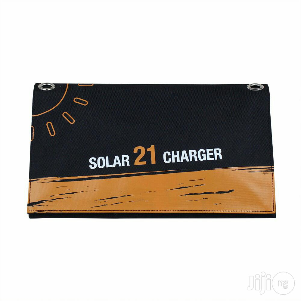 Mobile Phone And Tablet 21-watt Sun Solar Charger   Solar Energy for sale in Ikeja, Lagos State, Nigeria