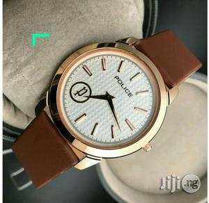 Police Rose Gold Leather Strap Watch | Watches for sale in Lagos State, Lagos Island (Eko)