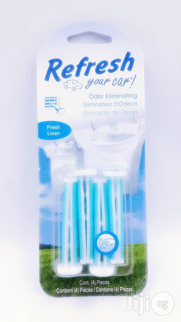 Refresh Auto Vent Stick Car Air Freshener, Fresh Linen, 4 Sticks