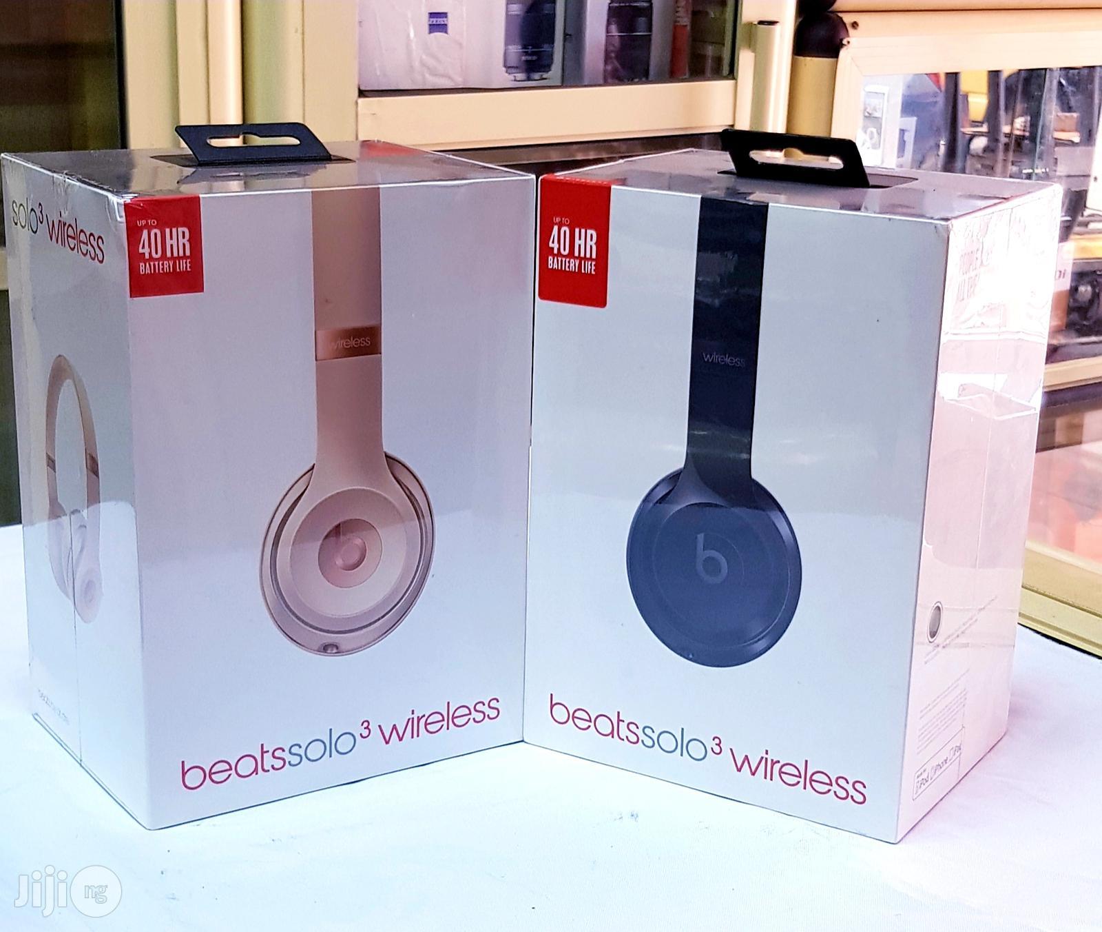 Original Beats By Dre Solo 3 Wireless Bluetooth On-Ear Headphone | Headphones for sale in Ikeja, Lagos State, Nigeria