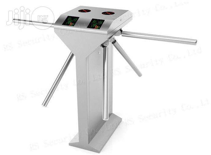 Double Passage Half Height Turnstile , Vertical Tripod Turnstile Gate