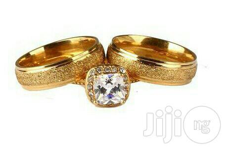 22karat Gold Plated Wedding Ring Set