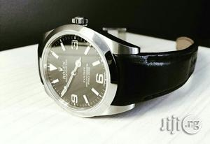 Rolex Oyster Perpetual Silver Leather Strap Watch   Watches for sale in Lagos State, Lagos Island (Eko)