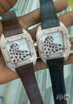 Cartier Ice Genuine Leather Strap Watch | Watches for sale in Lagos State, Surulere