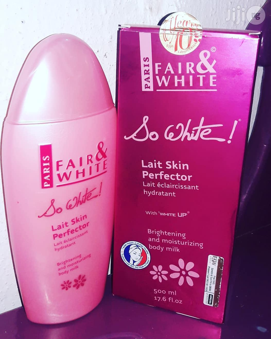 Fair White So White+Exfoliating Soap Combo - 500ml+200g | Bath & Body for sale in Ikotun/Igando, Lagos State, Nigeria