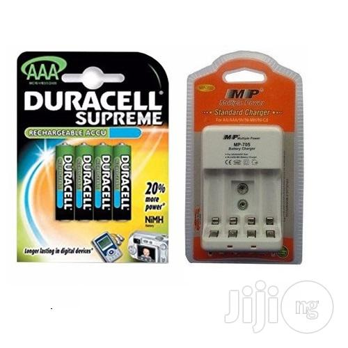 Duracell AAA Rechargeable Batteries With Charger
