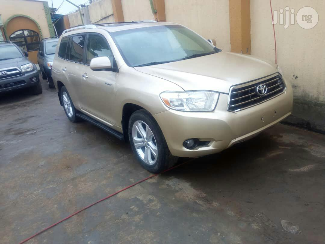 Toyota Highlander 2009 Gold | Cars for sale in Ikeja, Lagos State, Nigeria